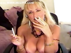 Best Amateur video with Smoking, annabel girl up and down dildo scenes