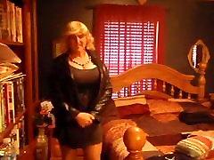 Norma cross in black dress