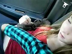 passenger girl fingering in car