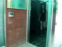Korean orgasmic queen Fuck in Public Restroom