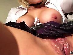 Jennifer Jade lesbian big naturals Dildo Fucking Wet Pussy Close Up