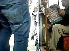 Camel toe in Public Transport