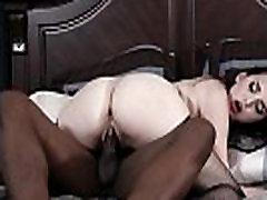Inked long rated porn slut gags on huge black cock