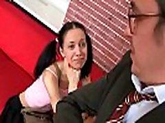 Nice schoolgirl is teased and nailed by her senior teacher