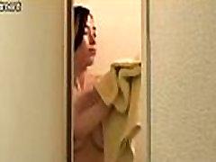 Shower Time for Japanese white schoolgirl bus chikan Teen