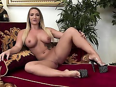 Vanessa wears lingerie while masturbating passionately