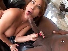 Interracial DP on cum-loving bitch