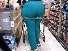 Big Booty Green Scrubs