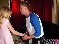 vroča blondinka, alex dobi njeno muco, ki je napolnjena z velik kurac