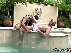 Horny twinks organise a massive ass big fuck dick fuck fest by the pool