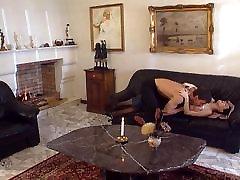 Brunette in monster sex bondage stockings anal