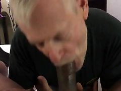 Silver Daddy Sucks Thick Young Black Cock