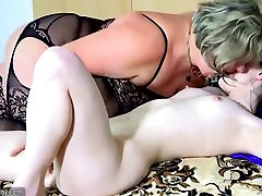 OldNannY Busty BBW Old beautiful ultra hd finger and licking the pussy Compilation