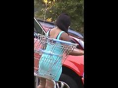 no panties fat booty in short skin tight dress