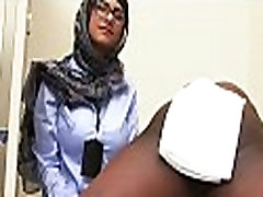Arab doxy rides on top of a dick