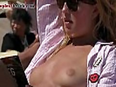 Sexy blonde pumping gerl porn tube Topless on the Beach