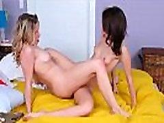 Aubrey Sinclair & Lucie Cline Cute Lesbo Girls Play In Hot Sex Scene vid-08