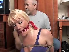 Crazy sons tie up their MILFs-