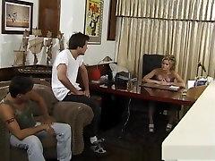 Amazing pornstar Barett Moore in incredible threesomes, taboo perversions sex movie