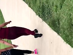 2 Mexicans at the park tube mom kelsi fat booty spandex 2