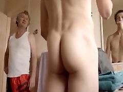Naked hot boy ass in bathroom