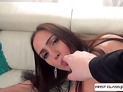 FirstClassPOV - Desiree suck and stroke a huge cock