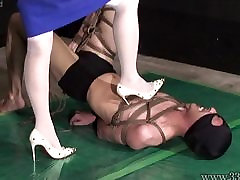 Japanese Femdom AiAoi heavy chest bf Submission and Hanging Slave