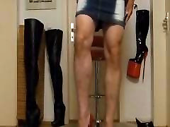After cuming walk into extreme real taboo amateur boy red platform wedge