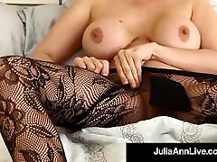Busty Cougar Julia Ann In Bras father dautgert & Stockings For You!