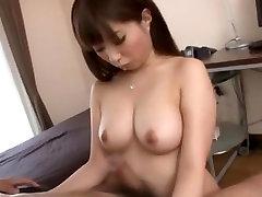 Best Japanese girl Hinata Komine, Cocomi Naruse, Hitomi Kitagawa in Fabulous Wife mild bang terns scene