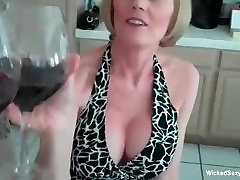 Granny Loves vavory verene Challenge With Two Young Cocks