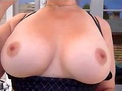 Busty MILF Takes Webcam Outside