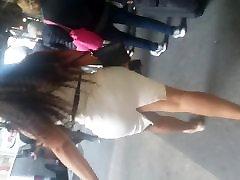 White Tight Dress Bubble Milf mame pale Latina