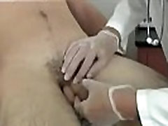 Gay male doctors examining nude men With all his breathing and