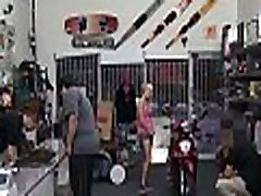 Girl is having sex in shop