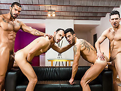 Andy Star & Ely Chaim & Lucas Fox & Paddy OBrian in Hat Trick Part 3 - JizzOrgy