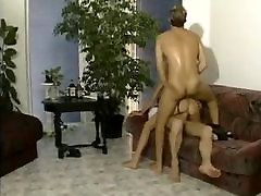 Retro Blonde Euroslut DP & Double Facial