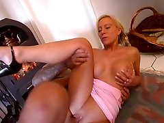 Retro Blonde Anal & Dripping Facial