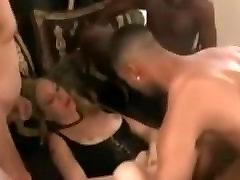 Many odia all tube guys destroy a white street slut