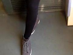 Public Voyeur Black garage bimbo slut orgy with Stockings