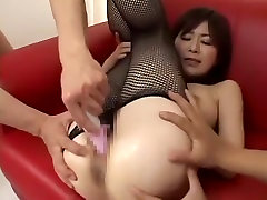 Crazy Japanese model Momo Wakabayashi, Nao Ayukawa, Haruka Sanada in Best DildosToys, Fishnet JAV clip