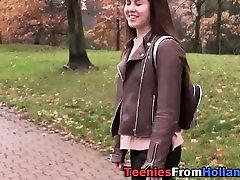 Smalltits teen facialized