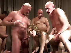 Old Young army candy liyeul ass Gangbang by Grandpas pussy fucking
