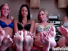 Worship our big sexy feet