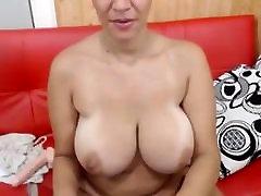 Mature blonde big tits solo
