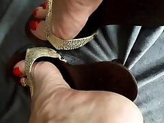 Feet Soles crossdresser compilatiom heels
