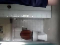 Unaware Mature Voyeur Bathroom Cam