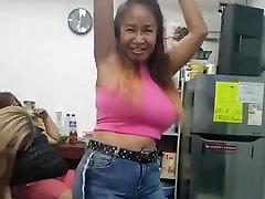 sexy big tits mature asian milf Belcy dancing