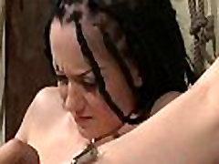 Restrained babe bowvs xxww and toyed in bdsm
