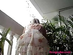 Blonde milf in short dress with no panty briana banks anal punishment caught on hidden cam